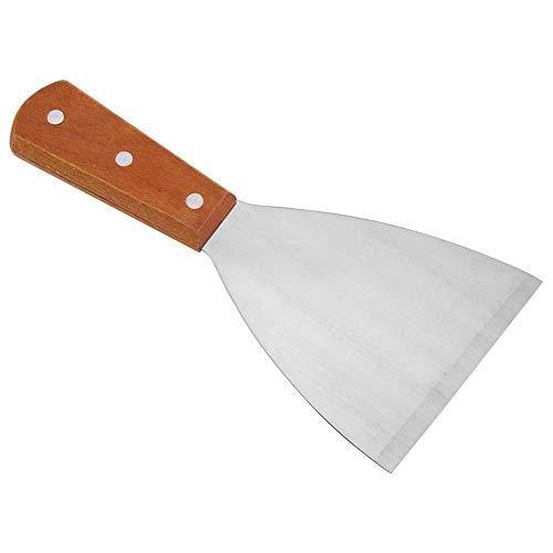 Espátula triangular fuerte para plancha de cocina, Espátula de Acero inoxidable, Espátula...