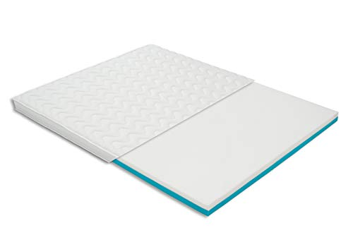 Premium Visco-Kaltschaum-Topper mit 10 cm | Wendbar mit 2-Schichten | 180 x 200 cm und weitere Größen | hervorragender Schlafkomfort | Ideal für Federkern-Matratzen, Boxspringbetten, Schlaf-Sofas