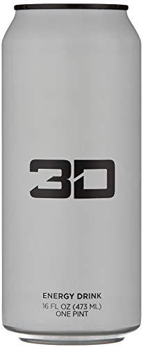 3D Energy Drink 12x473ml White