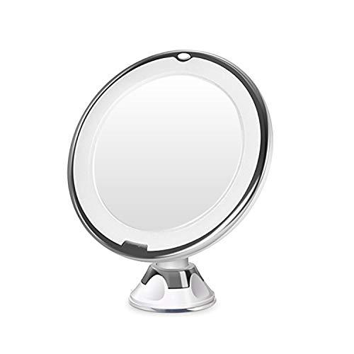 10X Vergr/ö/ßerung Make-Up Schminkspiegel Beleuchtet mit Blendfreier Beleuchtung f/ür Zuhause und Unterwegs Auxmir Kosmetikspiegel LED mit Licht 360/° Schwenkbar 16,5CM Spiegelfl/äche und Saugnapf