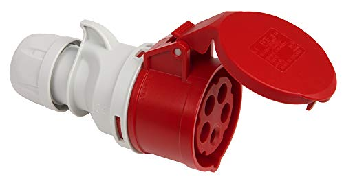 Kopp 182301001 CEE Kupplung, 5-polig, 16 A, 400 V, rot
