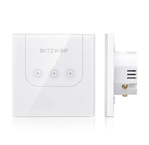 Blitzwolf BW-SS3 3 Kanal 10 A Smart Home Switch WiFi Touch Fernbedienung Wand gehärtetes Glas Arbeit Amazon Alexa Google Assistant
