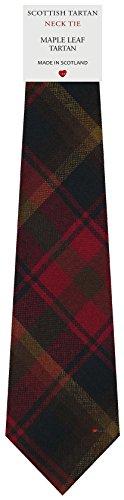 I Luv Ltd Cravate en Laine pour Homme Tissée et Fabriquée en Ecosse à Maple Leaf Canadian Tartan