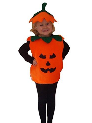 AN01 citrouille costume taille 110-116 pour Halloween, costume d'Halloween avec une coiffe