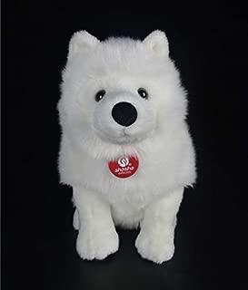 28cm Lifelike Samoyed Stuffed Toy Cute Simulation White Dog Plush Toy Puppy Plush Animal Toy Birthday Christmas Gifts