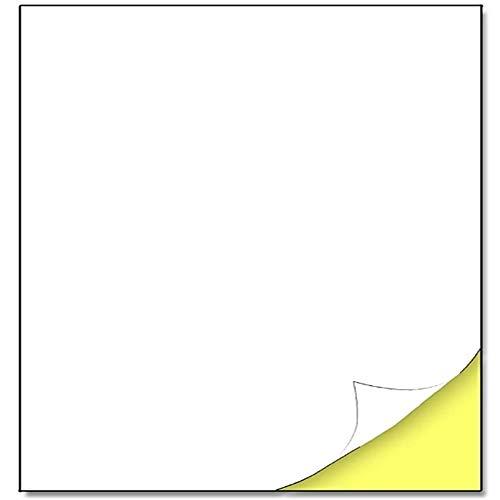 YCYY A4 Matte White Sticker Labels, Laser/Inkjet Printing - 1 Per Sheet,210 X 297Mm,100Sheets