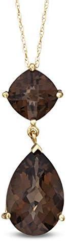 Royal Jewelz Lab-Created Gemstone double Dedication in Yel Pendant 10k drop Quantity limited