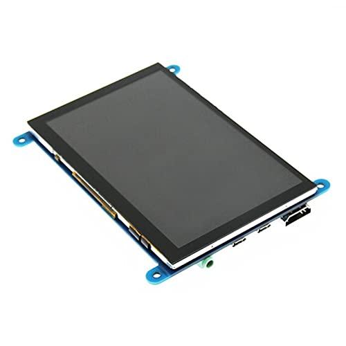 CNmuca Monitor LCD de 5 polegadas HDMI 800X480 HD tela sensível ao toque capacitiva para Raspberry Pi 4 Modelo B 3B + / 3B / 2B / B + Preto para Raspberry Pi 3B + / 3B / 2B / B +