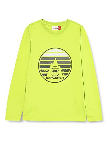 LEGO Lwtobias-Langarmshirt Camiseta, 813 Light Green, 116 para Niños