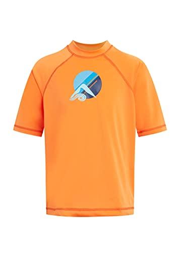 Kanu Surf Boys' Paradise UPF 50+ Sun Protective Rashguard Swim Shirt, Seaside Orange, 2T