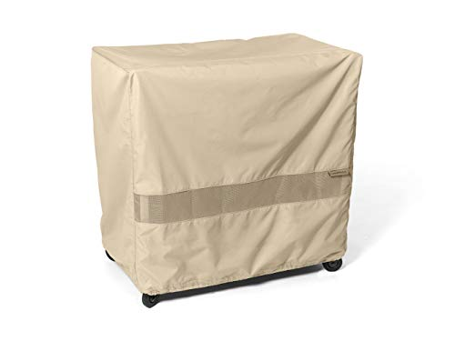 Covermates Serving Cart Cover – Water-Resistant Polyester, Mesh Ventilation, Patio Table Covers - Khaki