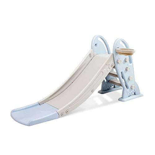 Primer Tobogán Para Niños Interior Y Al Aire Libre Freestanding Playset Playset Baby Playground Con Aro De Baloncesto Escalera De Escalera De Escalera De Niños ( Color : Azul , Size : 80X175X33CM )
