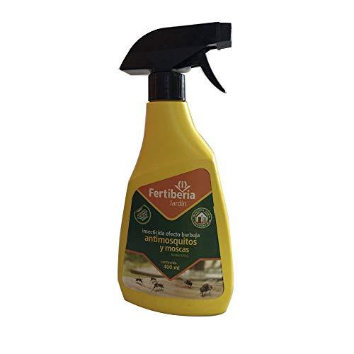FERTIBERIA Insecticida Líquido Especial Mosquitos y Moscas, Efecto Burbuja, 400 ml