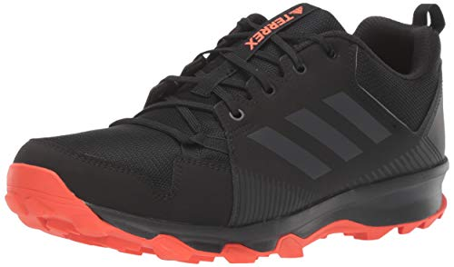 adidas outdoor Men's Terrex Tracerocker Trail Running Shoe, Black/Carbon/Active Orange, 12 D US