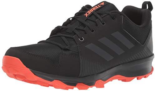 adidas outdoor Men's Terrex Tracerocker Trail Running Shoe, Black/Carbon/Active Orange, 9 D US
