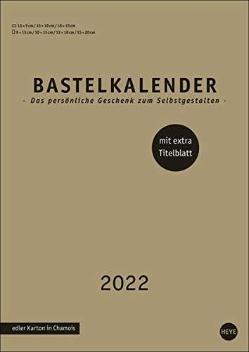 Bastelkalender gold A4 2022