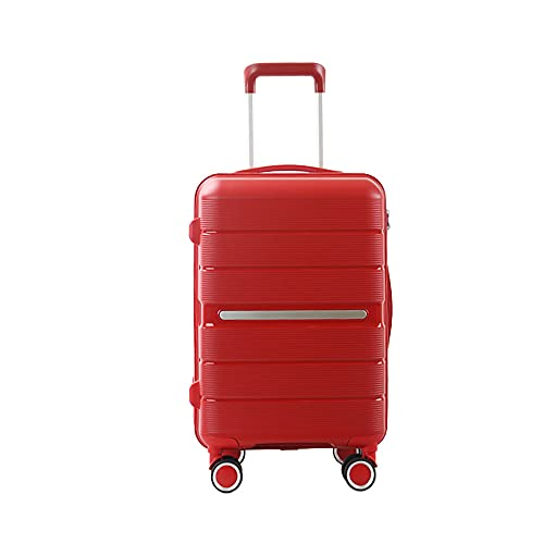 SGCDKSP Valigia Universal Wheel Boarding Case Password Box Box Carrello Bagagli Valigia,Rosso,20 Inches