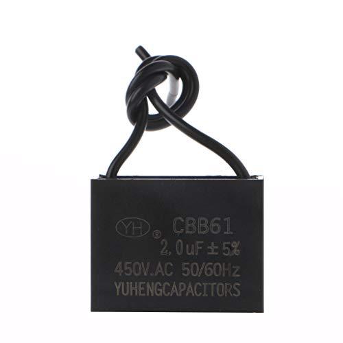 fatteryu CBB61 450V 1/2/3/4/5/6/10 uF Motor de ventilador de techo que funciona con condensador de arranque