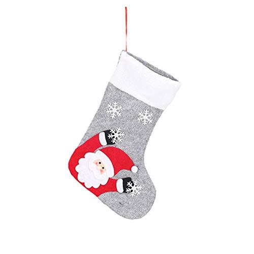 carol -1 Bunt Beleuchten Weihnachtsstrumpf, Nikolausstiefel zum Befüllen & Aufhängen, Nikolausstrumpf Weihnachtssocken Hängende Strümpfe für Weihnachtsdeko, Nikolaussocken mit Metallhaken