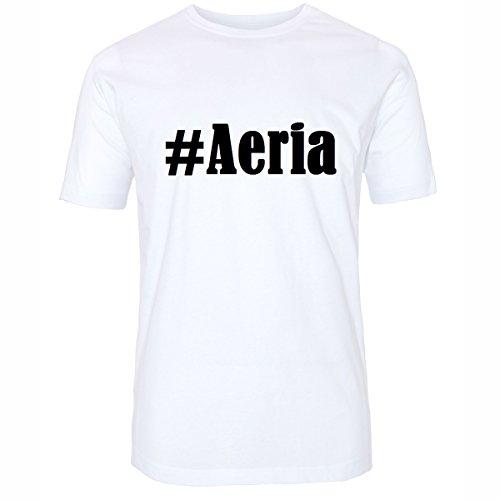 T-Shirt #Aeria Größe 4XL Farbe Weiss Druck schwarz