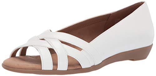 Aerosoles A2 Fanatic Ballet Flat, White, 5.5 M US