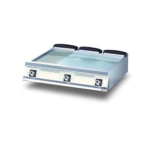 Plancha Electrique 1/3 Rainurée Chromée Diamante 90-600 à 1200 mm - Olis - Chromé 1200 mm