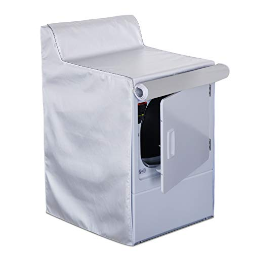 Covolo Washing Machine Cover, Washer Cover fit for Washer And dryer Machine for the Top,patio dryer cover Waterproof Dustproof Windproof (W29xD28xH40in silver)