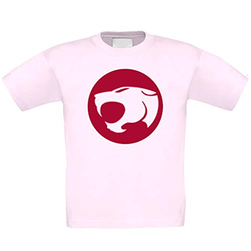 Girls Thundercats 80s Logo Pink T-shirt,  Ages 4 to 14 Years