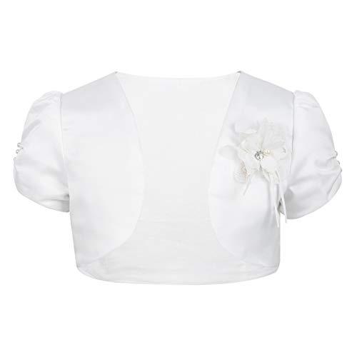 YiZYiF Bambine Neonata Maglione Manica Lunga Primavera Bottone Maglieria Cardigan Cappotto Caldo Giacca Cime Basic Bolero in Cotone Pizzo Casual Floreale 1-10 Anni