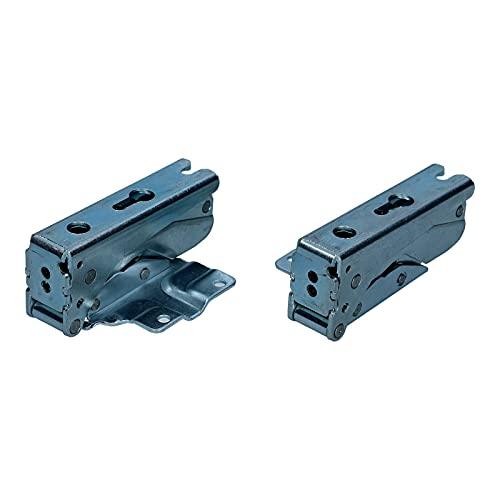 LUTH Premium Profi Parts - Set di cerniere per porta frigorifero (sopra e sotto) | Compatibile con Bosch Siemens Neff Miele 12004051 5433021