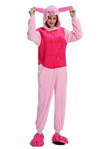 Adult Costume Sleepwear Christams Animal Fleece Pajamas Unisex (X-Large, Piglet Pig)