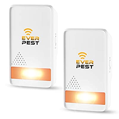 Pest Control Ultr?sonic Repellent - Easy Humane Way to Repel Rodents, Ants, Cockroaches, Bed Bugs, Mosquitos, Flies, Spiders Bats - Eco-Friendly Safe for Humans Pets (2)