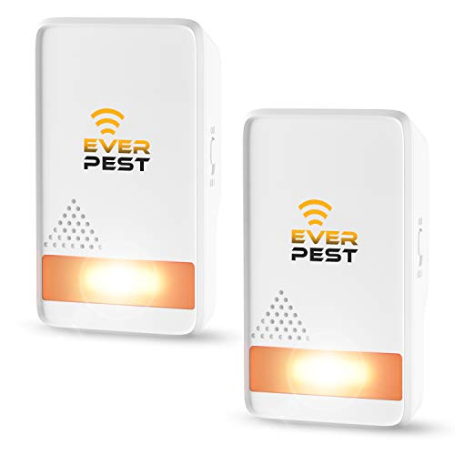 Pest Control Ultrаsonic Repellent - Easy Humane Way to Repel Rodents, Ants, Cockroaches, Bed Bugs, Mosquitos, Flies, Spiders Bats - Eco-Friendly Safe for Humans Pets (2)