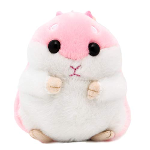 Süßer Plüsch Hamster Puppe Schlüsselanhänger, Creamon Süßer Plüsch Hamster Puppe Schlüsselanhänger Kuscheltiere Schlüsselanhänger Charm Handtasche Anhänger pink