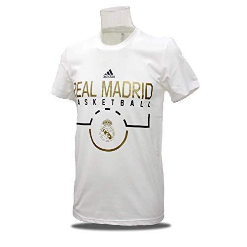 adidas Camiseta Manga Corta Baloncesto Real Madrid (M)