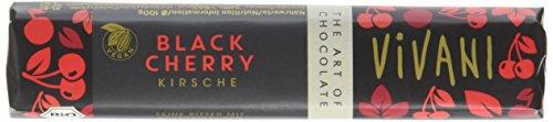 Vivani Black Cherry Kirsche Schokoriegel, 18er Pack (18 x 35 g)