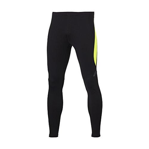 Asics Race Herren Laufhose lang Winter Tight Sporthose Black/Safety Yellow 131805, Größe:XXL