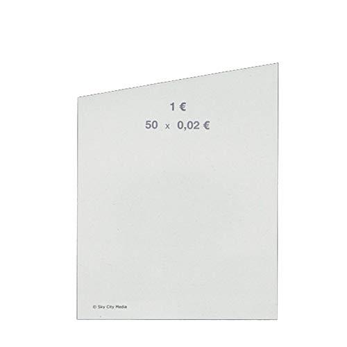 Münzrollpapier für Euro Münzen je 50x (0,02 € Papier) für Geldrollen/Rollgeld Münzrollenpapier/Handrollpapier/NEU
