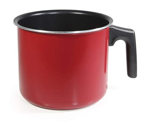 MGE - Milchtöpfe - Simmertopf für Milch & Kakao - Wasserkocher - Aluminium - Rot