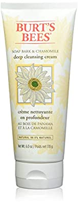 Burt's Bees 99.9% Natural Cleanser Soap Bark and Chamomile Deep Cleansing Cream, 170 grams by Burt's Bees