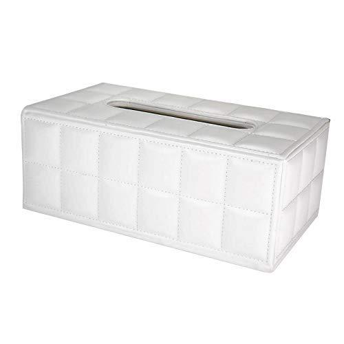 ティッシュケース レザー おしゃれ ティッシュボックス 黒 白 ケース マグネット ティッシュ 収納 カバー 革 Holoimua (白)