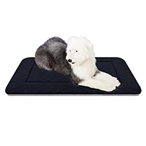 Hero Dog Large Dog Bed Washable Crate Pad Mat 40in Anti Slip Pet Beds Sleeping Mattress Dark Grey, L
