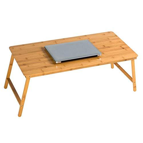 HYY-YY Laptop Stand Plegable for el Escritorio portátil multifunción Inicio Sofá Cama Tabla Estudiantes universitarios Sitio del Dormitorio Aprende bambú, Madera Color (Tamaño: 80x38x32CM)