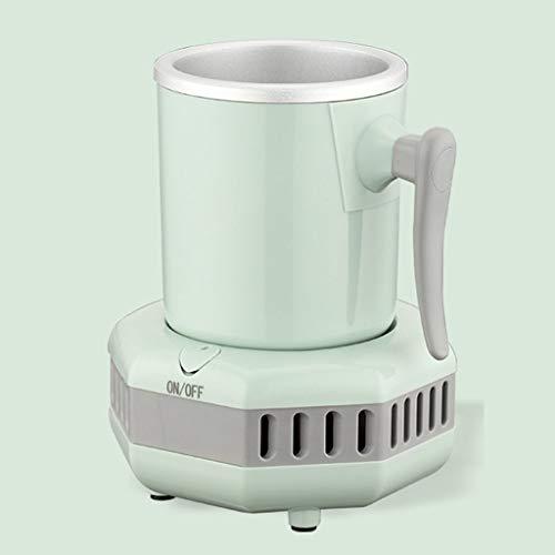Tasse réfrigérante électronique pour la bière glacée, le vin, les boissons, portable, mini-réfrigérateur, refroidissement rapide, pour la maison et en déplacement, avec adaptateur secteur (vert)