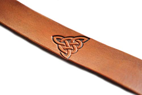 Handmade Leather Bookmark | Celtic Triangle Knot w/Multiple Color Options