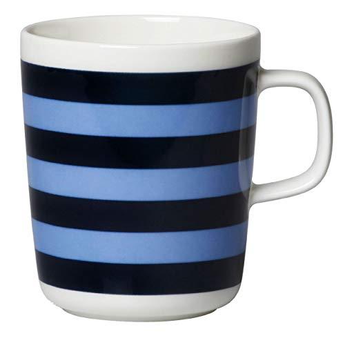 Marimekko - TASARAITA Mug - Henkelbecher - Kaffeebecher - Tasse - Steinzeug - 250 ml - Dark Blue, Light Blue - dunkelblau, hellblau