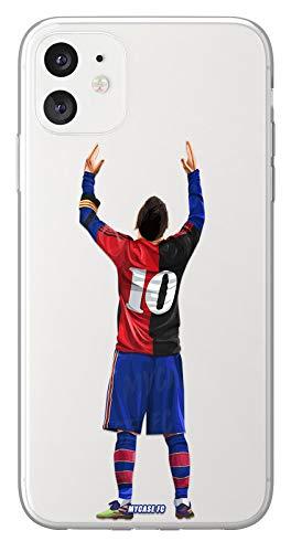 MYCASEFC - Cover da calcio personalizzabile Messi-CELEBRARTION-Hommage Huawei P9 Lite, in silicone, custodia da calcio per smartphone personalizzata e realizzata in Francia in TPU