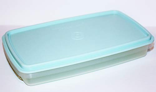 Tupperware Deli Keeper Slim Container Cold Cuts Sheer Container Mint Color Seal