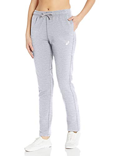 ASICS Pantalón Deportivo para Mujer, Mujer, Pantalones de chándal, Ref!, Gris, XS