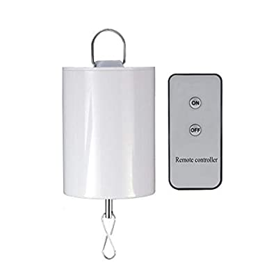 FONMY Hanging Display Motor with Remote for Wind Spinner Ornament Hanging Decor Wind Chimes Baby Crib Mobile Battery Operated Motor-10 RPM Low Speed
